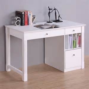 Office Writing Desk Walker Edison Deluxe Home Office Writing Desk With Storage White Dw48d30wh