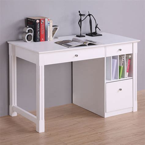 home office desks with storage walker edison deluxe home office writing desk with storage white dw48d30wh