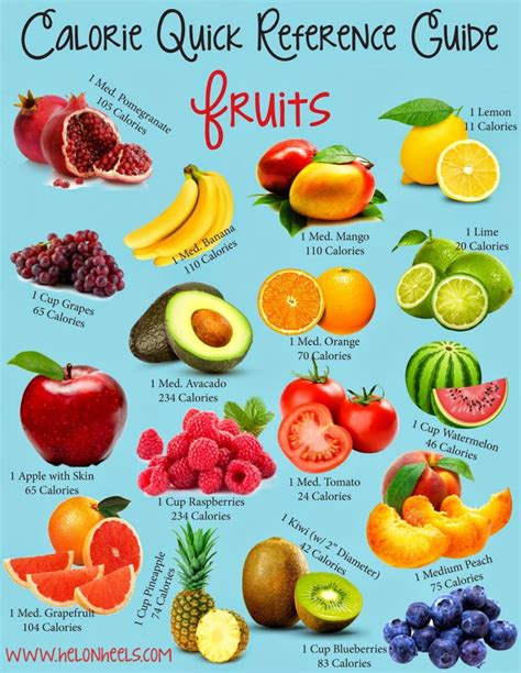 fruit calories calorie reference guide fruits