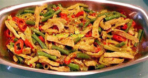 karins recipe oseng labu kacang panjang stir fry