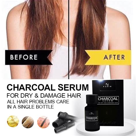 12 Best Shoos For Damaged Hair by Parin Charcoal Serum For And Damaged Hair Thailand