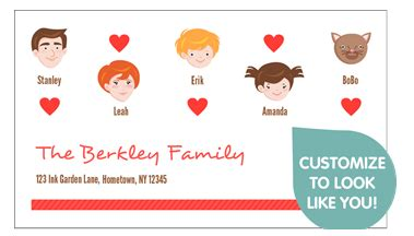 Family Business Card deal 100 free business or social cards for you and
