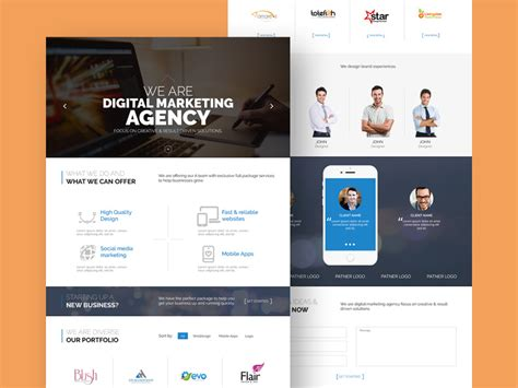 Web Agency Website Template Freebie Download Photoshop Resource Psd Repo Web Agency Template