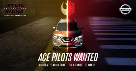 Star Wars The Last Jedi Sweepstakes - nissan and star wars master the drive sweepstakes winzily
