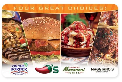 Chilis On The Border Gift Card - hot buy a 25 gift card for only 20 to macaroni grill maggiano s chili s and on the
