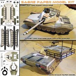 sabre main battle tank paper model po archives