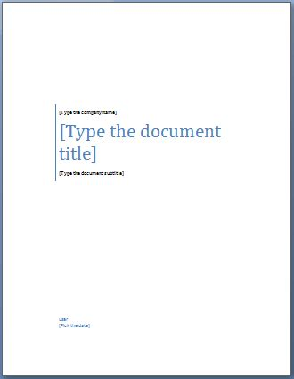 Add A Cover Page To A Word Document Cover Page Template
