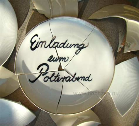 Polterabend Einladung by Polterabend On German Wedding Hochzeit And Plates