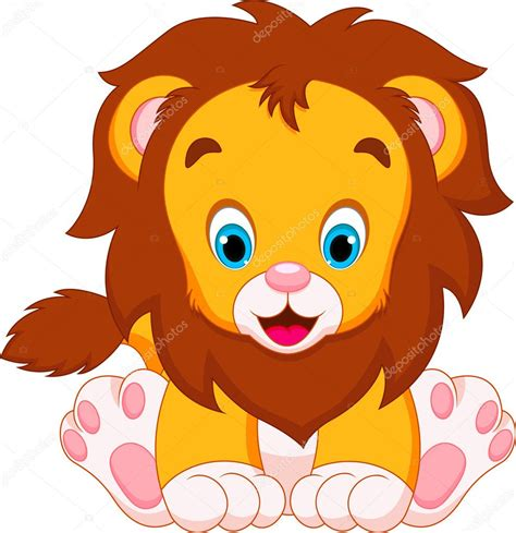 imagenes de leones bebes animados dibujos animados de beb 233 s de le 243 n vector de stock