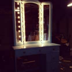 Vanity Mirror With Lights Desk Furniture Narrow White Dresser Feat Glass Top Vanity