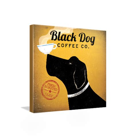 black dog coffee house 24 quot x24 quot gallery wrapped canvas prints