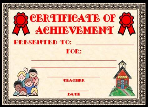 free templates for achievement awards achievement award certificates