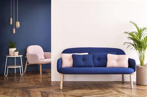 sofa 2 places georges straight sofa 2 places l 146 cm navy blue