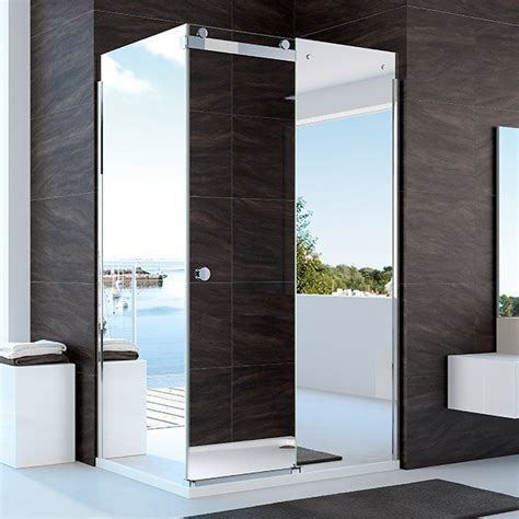 mirror bathroom door merlyn 10 series 1200mm mirror sliding shower door