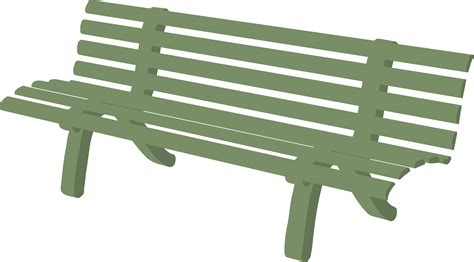 the green bench clipart bench