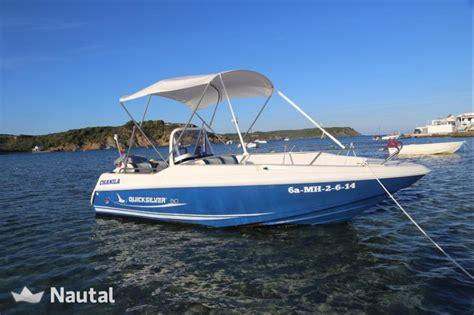 motorboot quicksilver 500 commander tolles boot in mahon mit boje in es grau nautal