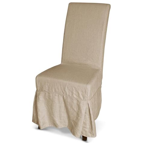 corset  french country ecru linen slipcover dining chair