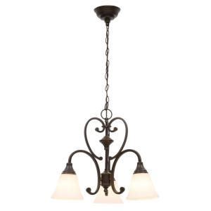 Hton Bay Kristin 3 Light Antique White Hanging Mini Chandelier Hb3430 44 The Home Depot Chandeliers Store At Home Sensation
