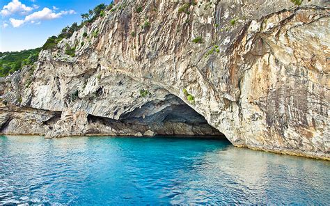 Beautiful Road by The Incredible Blue Caves Of Greece Greece Is