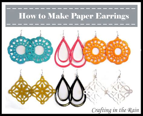 How To Make Paper Earrings - someday crafts paper earrings