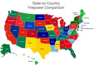 u s map shows how many guns each state is packing