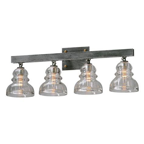 Troy Lighting Menlo Park 4 Light Old Silver Vanity Light Troy Light Fixtures