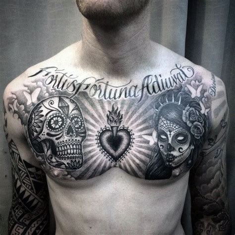 100 tattoo on chest for 10 best skull chest designs images on