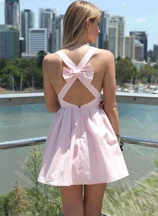 open cross back dress with bow at nygirl sims 187 sims 4 updates light pink sleeveless mini dress with open cross bow back