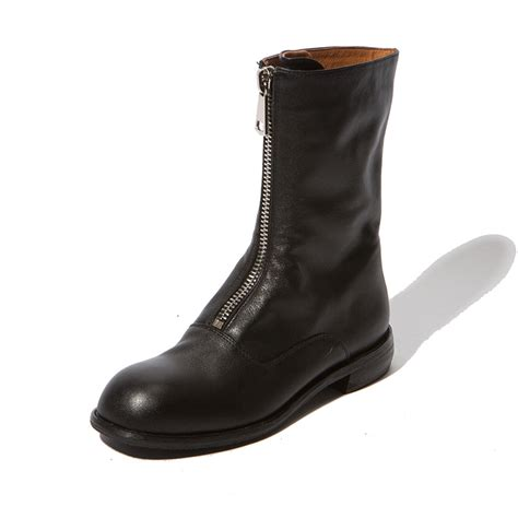 zipper boots chiko logistilla front zipper block heel ankle boots