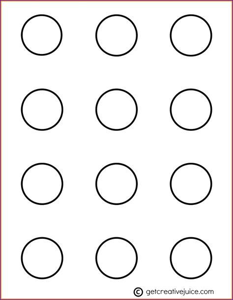 7 Macaron Circle Template Tipstemplatess Tipstemplatess 1 5 Circle Template