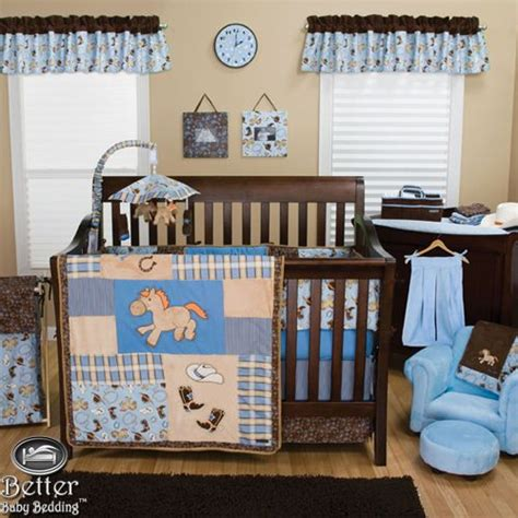 horse crib bedding trend lab baby boy cowboy western horse themed crib
