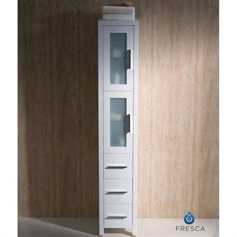 bathroom linen cabinets white fresca torino tall bathroom linen side cabinet in white
