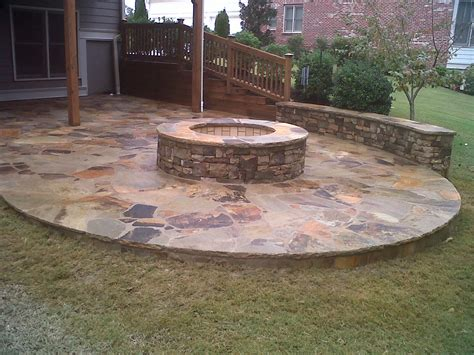 rock firepit outdoor pit garden ideas