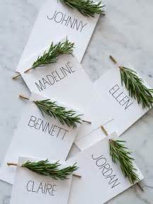 Diy Place Cards rosemary sprig place cards diy place cards spoon fork bacon