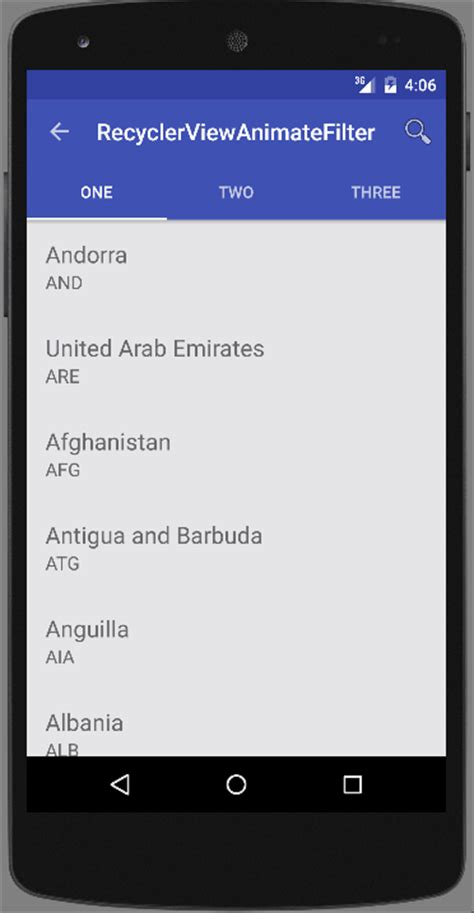 recyclerview layout animation android recyclerview search items with animation