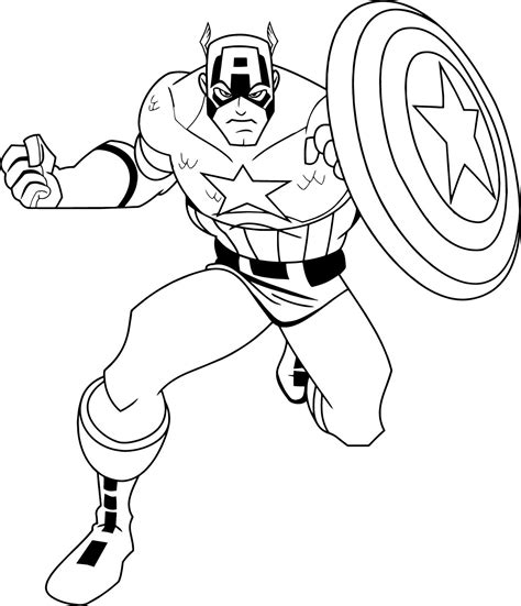 america coloring page captain america coloring pages wecoloringpage captain