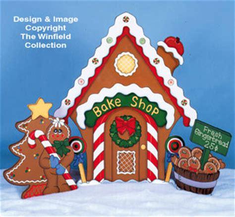 gingerbread gingerbread house bake shop pattern