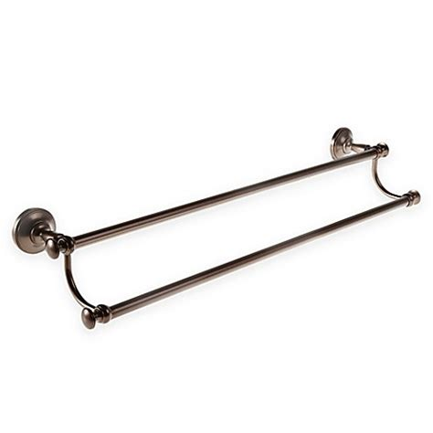 bed bath and beyond towel bars gatco 174 tavern 24 inch double towel bar bed bath beyond