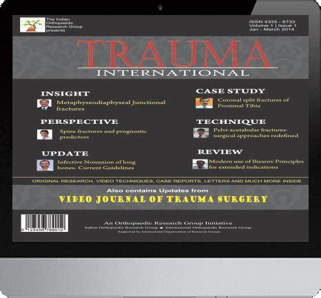 trauma international journal  trauma  injury