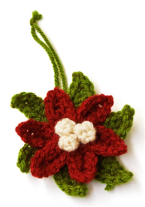 pattern crochet poinsettia crochet poinsettia ornament allfreeholidaycrafts com