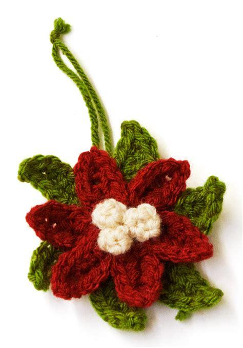 crochet poinsettia ornament allfreeholidaycraftscom