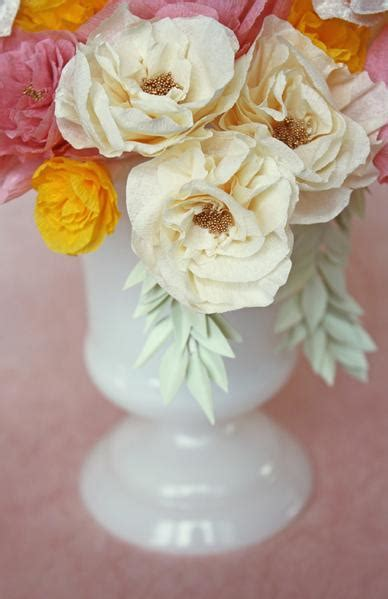 Roses Are Blush Roses Are Bashful by Blush And Bashful Diy Crepe Paper Flowers
