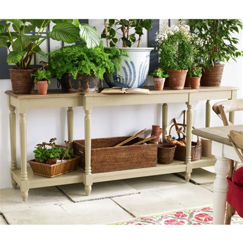 upton weathered oak top console table grey oka