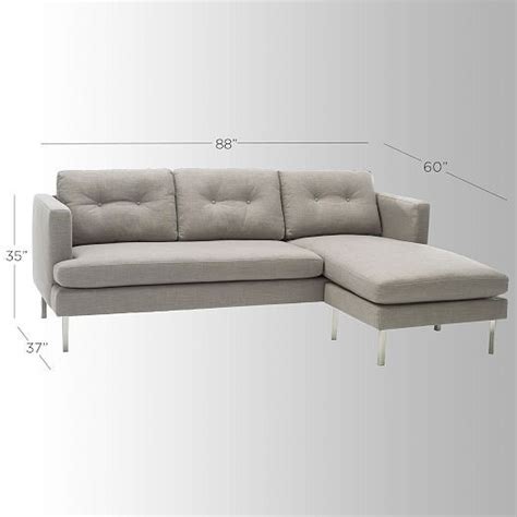 west elm jackson sectional jackson 2 piece chaise sectional west elm remodel
