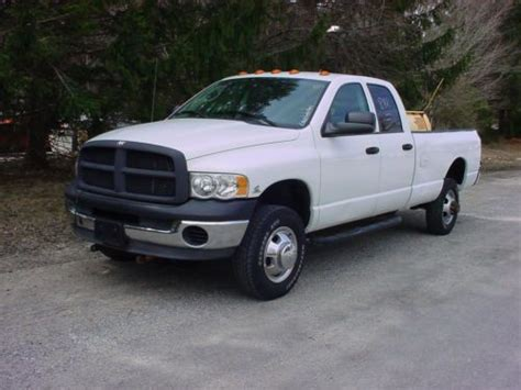 find used 2003 dodge ram 3500 quad cab turbo diesel work truck with plow in litchfield