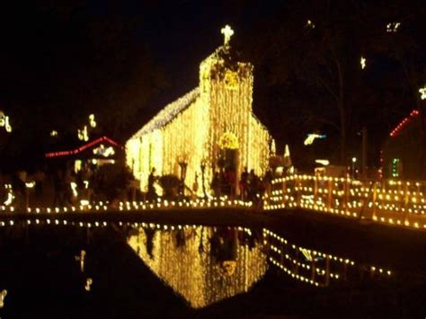 acadian village christmas lights lafayette la acadian lights on the church picture of acadian lafayette
