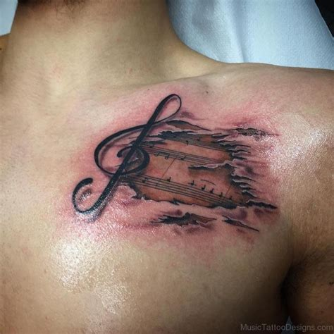 music tattoos designs for guys 51 amazing tattoos on chest