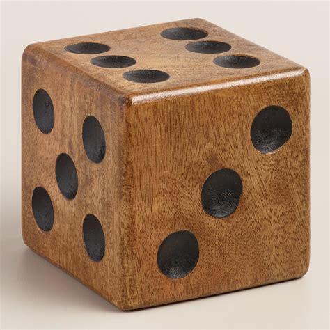 large wood large wood dice paperweight world market