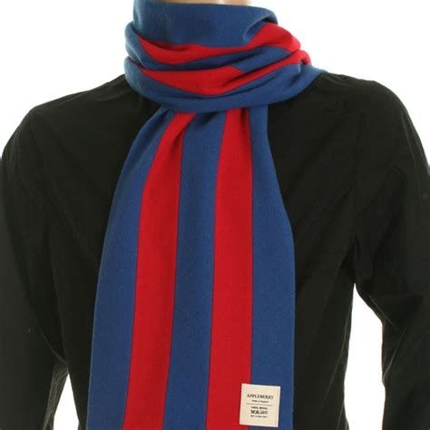 Scarf Barcelona football scarf in the colours of fc barcelona from appleberry