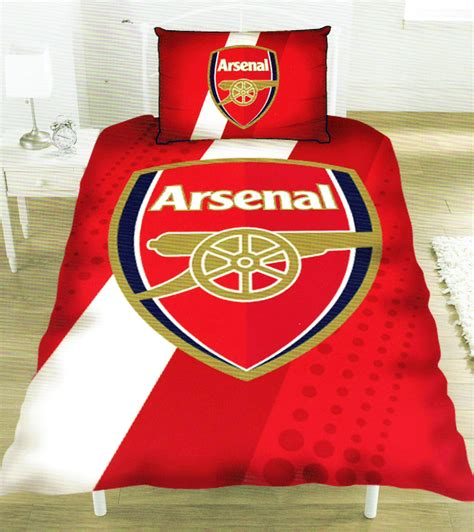 arsenal quilt cover arsenal fc football club single duvet pillowcase set new